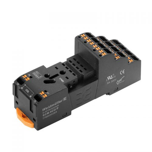 7760056363 SCM 4CO DRM Series Relay Base PUSH-IN