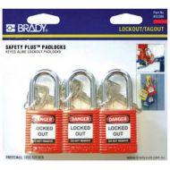 Brady Padlock 3 Pack 853205