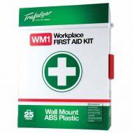 WM1 Wall Mount First Aid Kit (Plastic Case) 876479
