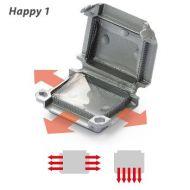 Happy Line 1 - Grey - 45 x 37 x 24 - Qty 2