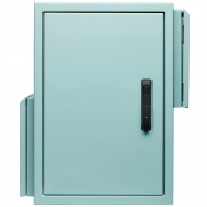 IP-A654532-T33 Pole Mount Ventilated Field Cabinet IP55 Aluminium