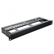 """IP-SDDINSHELF1-150 1RU 19"""" Rack Mounted Single DIN Rail Shelf"""