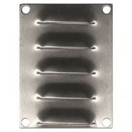IP-SSLV10075 Louvre Vent 100 x 75 mm Stainless Steel