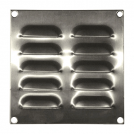 IP-SSLV130130 Louvre Vent 130 x 130 mm Stainless Steel