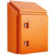 IP-SSR606030-HD-SUN-OR Sloping Roof Single Door IP66 Electrical Enclosure