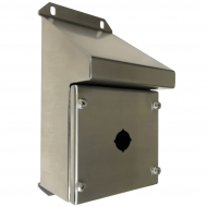 IP-SSSRPB1 Pushbutton Enclosure Sloping Roof Stainless Steel