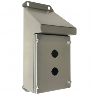 IP-SSSRPB2 Pushbutton Enclosure Sloping Roof Stainless Steel