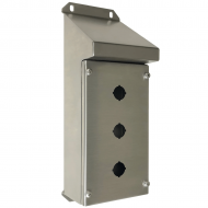 IP-SSSRPB3 Pushbutton Enclosure Sloping Roof Stainless Steel
