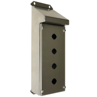 IP-SSSRPB4 Pushbutton Enclosure Sloping Roof Stainless Steel
