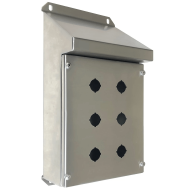 IP-SSSRPB6 Pushbutton Enclosure Sloping Roof Stainless Steel