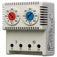 IP-THD2 Thermostat Double NC|NO 0/+60| 0/+60 °C