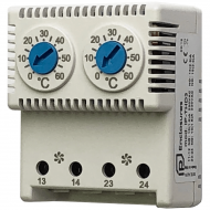 IP-THD3 Thermostat Double NO|NO 0/+60| 0/+60 °C