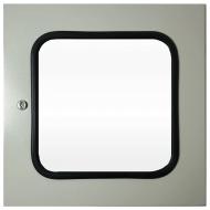 IP-4040WINDOOR Transparent Door Steel Powder Coated