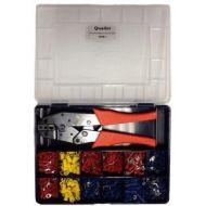 TERMCO Crimping Tool Kit With 550 R/B/Y Crimp Pieces QKB-1